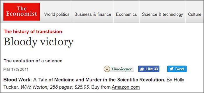 """The Economist """"Blood Work"""" Review"""