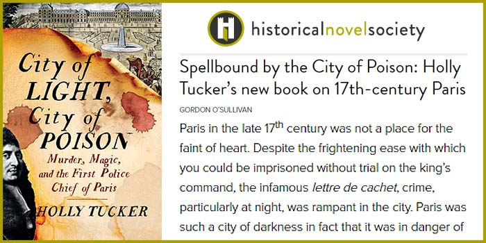 Historical Novel Society Spellbound by City of Light, City of Poison